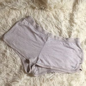 Gray Striped Sleep Shorts